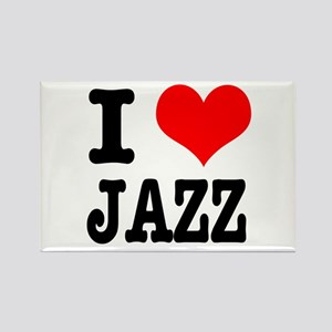 I Heart (Love) Jazz Rectangle Magnet