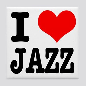 I Heart (Love) Jazz Tile Coaster