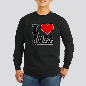 I Heart (Love) Jazz Long Sleeve Dark T-Shirt