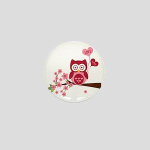 Owl LOVE Mini Button