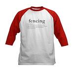 Fencing Definition Kids Baseball Jersey