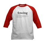 Fencing Definition Kids Baseball Jersey