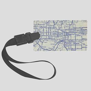 Map of Pomona and San Gabriel Va Large Luggage Tag