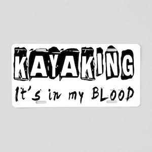 Kayaking Designs Aluminum License Plate