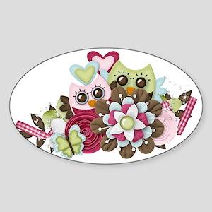 Owl Wonders Sticker (Oval)