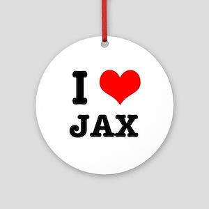 I Heart (Love) Jax Ornament (Round)