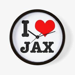I Heart (Love) Jax Wall Clock