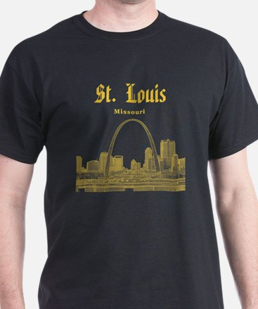 StLouis_12x12_Downtown_Yellow T-Shirt