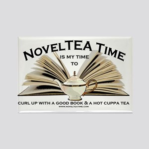 NovelTea Time Classic Curl up wit Rectangle Magnet