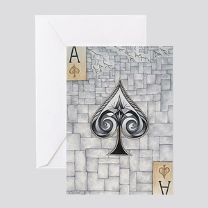 Ace of Spadezz Greeting Card