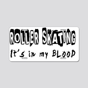 Roller Skating designs Aluminum License Plate