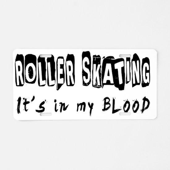 Roller Skating designs Aluminum License Plate