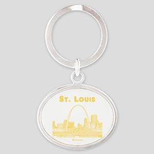 StLouis_10x10_Downtown_Yellow Oval Keychain