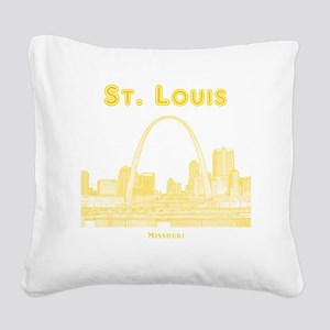 StLouis_10x10_Downtown_Yellow Square Canvas Pillow