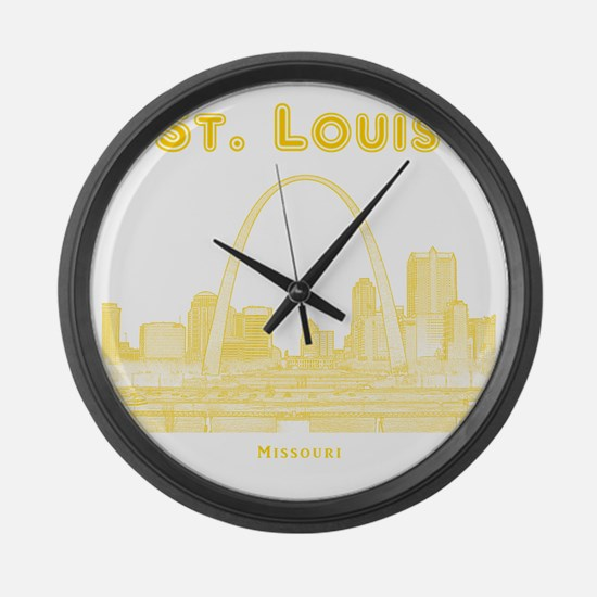 StLouis_10x10_Downtown_Yellow Large Wall Clock