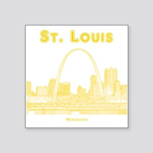 "StLouis_10x10_Downtown_Yell Square Sticker 3"" x 3"""