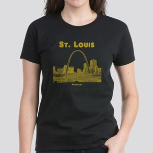 StLouis_10x10_Downtown_Yellow Women's Dark T-Shirt