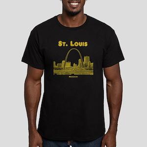 StLouis_10x10_Downtown Men's Fitted T-Shirt (dark)