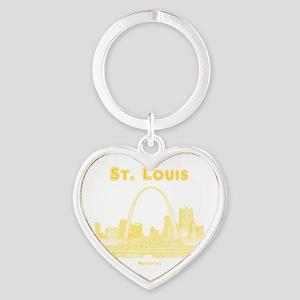 StLouis_10x10_Downtown_Yellow Heart Keychain