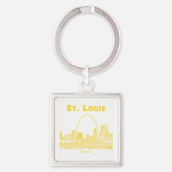 StLouis_10x10_Downtown_Yellow Square Keychain