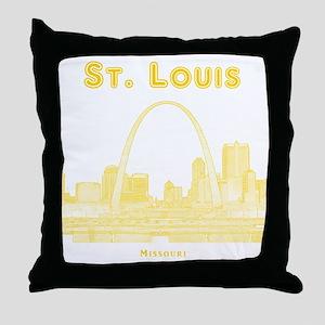 StLouis_10x10_Downtown_Yellow Throw Pillow
