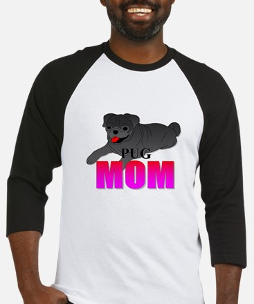 Black Pug Mom Baseball Jersey
