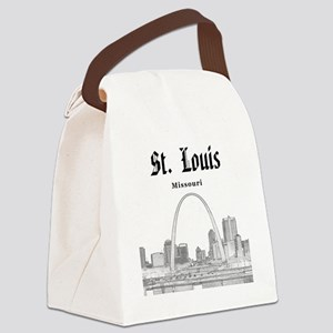 StLouis_12x12_Downtown_Black Canvas Lunch Bag