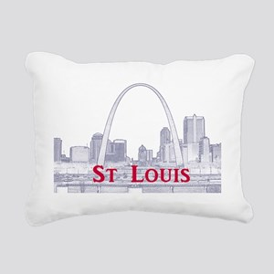 StLouis_Downtown_Rect_Bl Rectangular Canvas Pillow