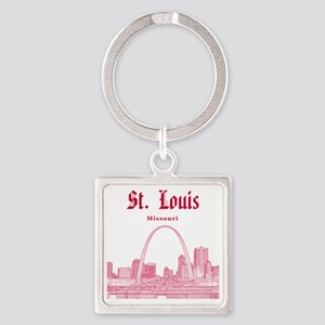 StLouis_12x12_Downtown_Red Square Keychain
