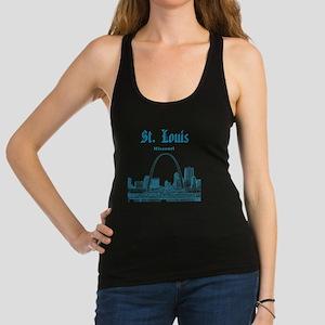 StLouis_12x12_Downtown_Blue Racerback Tank Top