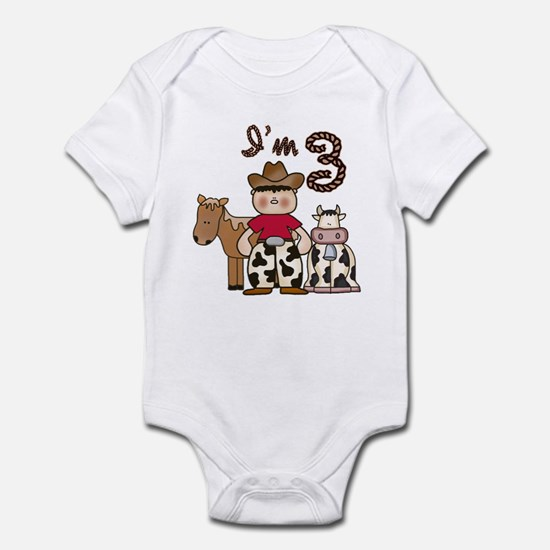 Cowboy 3rd Birthday Infant Bodysuit