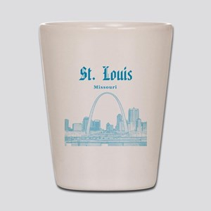 StLouis_12x12_Downtown_Blue Shot Glass
