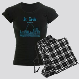 StLouis_12x12_Downtown_Blue Women's Dark Pajamas