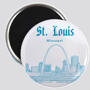 StLouis_12x12_Downtown_Blue Magnet