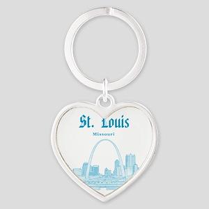 StLouis_12x12_Downtown_Blue Heart Keychain