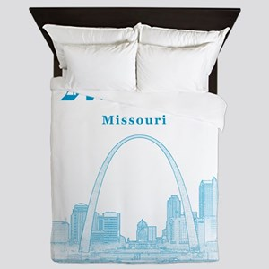 StLouis_12x12_Downtown_Blue Queen Duvet