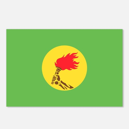 Zaire flag Postcards (Package of 8)