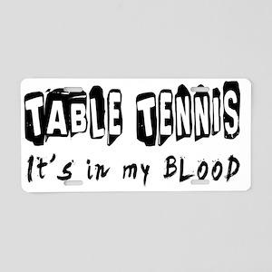 Table Tennis Designs Aluminum License Plate