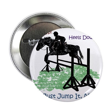 """Fun Hunter/Jumper Equestrian Horse 2.25"""" Button"""
