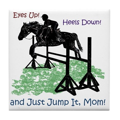 Fun Hunter/Jumper Equestrian Horse Tile Coaster