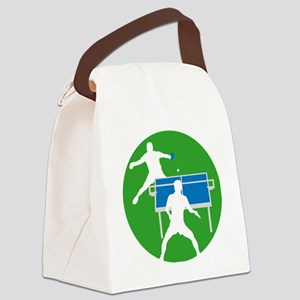 male table tennis players Canvas Lunch Bag