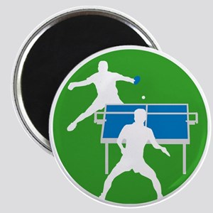 male table tennis players Magnet