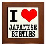 I Heart (Love) Japanese Beetles Framed Tile