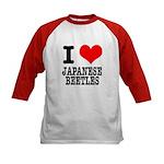 I Heart (Love) Japanese Beetles Kids Baseball Jers