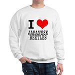 I Heart (Love) Japanese Beetles Sweatshirt