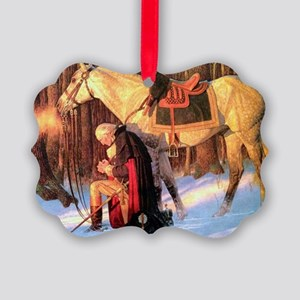 Mt. Vernon Painting of George Was Picture Ornament