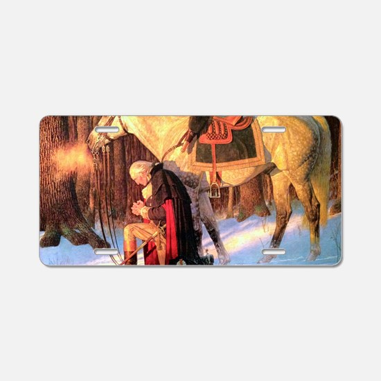 Mt. Vernon Painting of Geor Aluminum License Plate