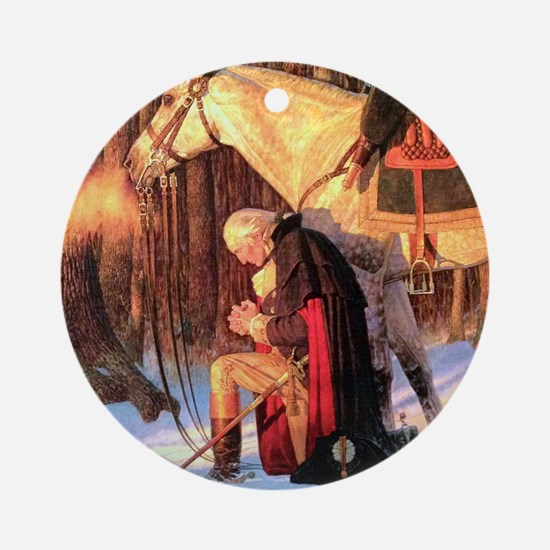 Mt. Vernon Painting of George Washi Round Ornament