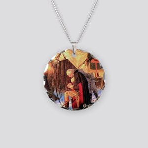 Mt. Vernon Painting of Georg Necklace Circle Charm