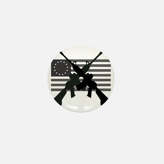 AR-15 and Revolutionary Flag Mini Button